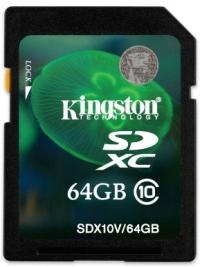 Карта памяти Kingston SDXC 64 GB Class 10