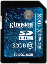 Карта памяти Kingston SDHC 32 GB G2 Class 10
