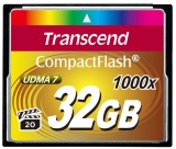 Карта памяти Transcend Compact Flash 32 GB (1000X)