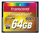 Карта памяти Transcend Compact Flash 64 GB (600X)